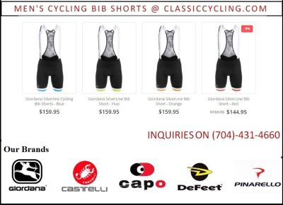 Classic Cycling Bib Shorts Clearance for Men's
