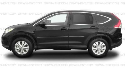 Find HONDA CRV Painted Body Side Mouldings Moldings With Chrome Insert Trim 2012-2014 motorcycle in Cleveland, Ohio, US, for US $152.96