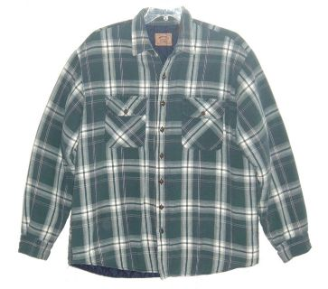 St Johns Bay Heavy Weight Green Plaid Flannel Lined Jacket Big & Tall XLXT XL XT