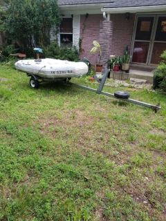 Mercury Quick Silver 270 inflatable boat / trailer
