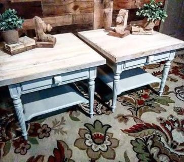 Custom End Table Pair