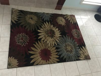4.5' x 6' Floral Area Rug