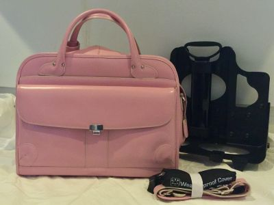 Pearl Pink Laptop and iPad Briefcase