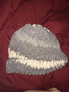 Handmade knitted toque. S/B free. Cat friendly home. Cross posted. Pick up Unicity or Polo Park Area.