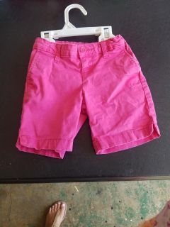 Cute faded Glory cotton girls shorts with adjustable waist size 6