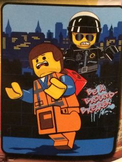 Lego Movie Emmet Bad Cop Be A Ground Breaker Plush Fleece Throw Blanket