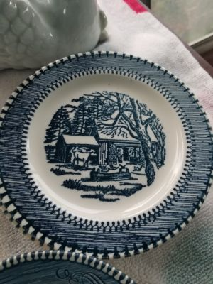 Currier and Ives bread plate