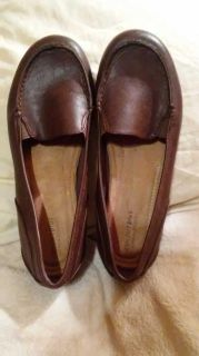Predictions Brown Leather Loafers - 9.5W