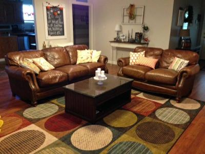 Sofa  Loveseat Leather