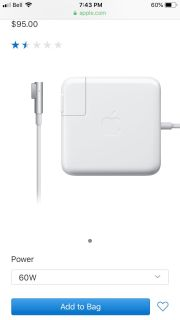 ISO: Apple MagSafe adapter for Macbook Pro