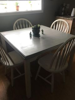 Vintage Farm house table and chairs