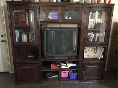 Wall size entertainment center