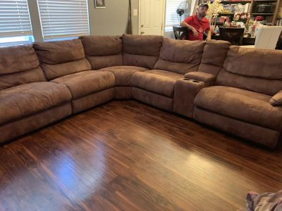 6 Piece Reclining Sectional Couch