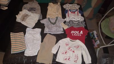 3-6 month baby boy clothes 14 pc lot