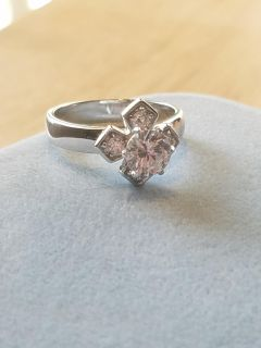 GORGEOUS CROSS RING, 925 SILVER, SIZE 7, 3 PICTURES, IN PERFECT CONDITION