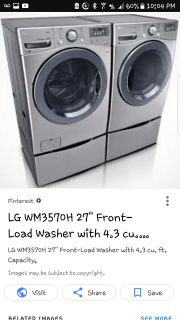 Lg turbowash 4.3 c.u. ft 14 cycle washer/dryer