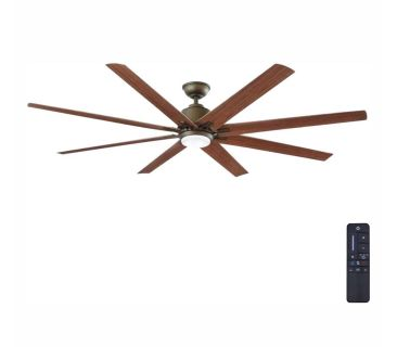 NEW! Kensgrove 72 in. LED Indoor/Outdoor Espresso Bronze Ceiling Fan with Remote Control