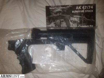 For Sale: NEW Bump Fire AK stock