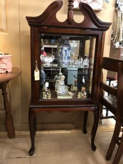 Queen Anne Style Curio/Display Cabinet