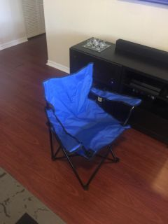Blue Folding Canvas Chair with Blue Carrying Bag (Brand-New, Unused, Original)
