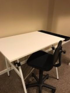 Art & Drafting Table plus Chair