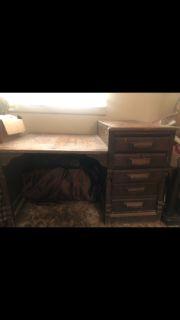 Vintage Mid~Century Bankers Desk