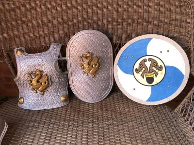 Knight Chest Guard and Shields