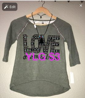 Girls Blouse with necklace NWT