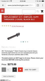 For Sale: Zev 9mm