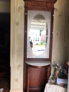 Entry cabinet w/mirror