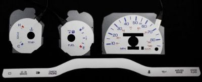Purchase 85MPH Glow Silver Reverse Gauge Face InDash Overlays For 89-92 Mercury Cougar motorcycle in Monterey Park, California, United States, for US $24.99