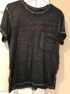 Black/gray Abercrombie T-shirt with pocket. Size small $2