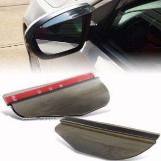 Buy 2X Smoke Rear View Side Mirror Flexible Sun Visor Shade Rain Shield Universal C motorcycle in Rowland Heights, California, United States