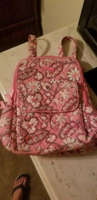 EUC Vera Bradley Ultimate Backpack, not a huge backpack but has a lot of room and compartments, great for travel, parks, diaper bag