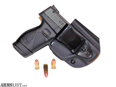 For Sale: Aggressive Concealment PTIWBLPT Tuckable IWB Kydex Holster for The Taurus PT709/PT740 slim