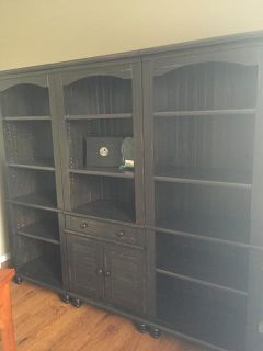 $1,100, Office Desk, Chair and Library Shelf for Sale
