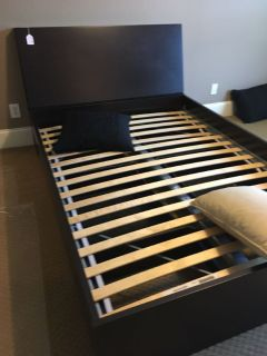 IKEA platform bed with storage full/double