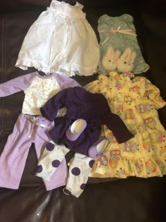 18 inch doll or American Girl Doll outfit and pjs