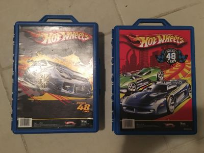Two Hot Wheels car cases