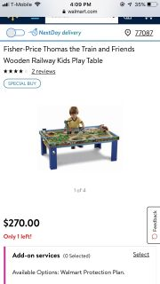 Thomas and friends table