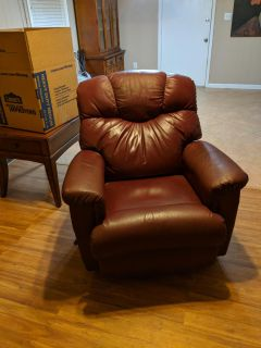 Lazy Boy Leather Rocker/Recliner *Cross posted
