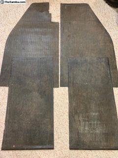 Rubber floor mat complete set original oval split