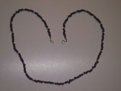 24 inch hand crafted garnet necklace - see attached photograph