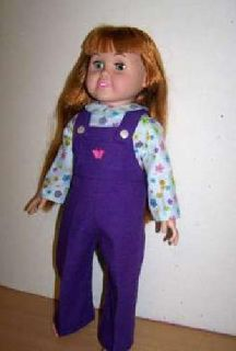 Doll Overalls and Shirt for 18 inch doll such as American Girl dolls