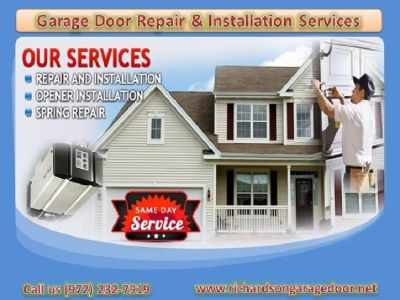 Broken Garage Door Spring Repair Service in Richardson, TX – Start $25.95