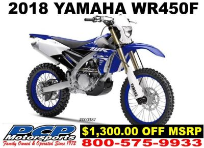 2018 Yamaha WR450F Competition/Off Road Motorcycles Sacramento, CA