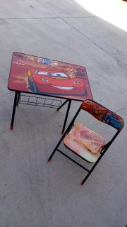 Disney Cars table & chair set. Collapses for storage. Like new condition