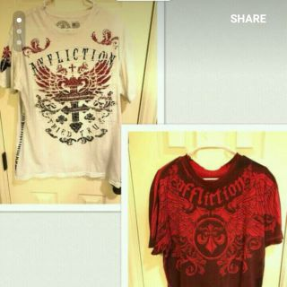Men's affliction shirts and so much more
