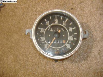 VW Bug speedometer 68 - 70 yr. 90 MPH