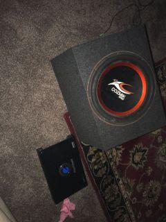 4000 watt Amp and 15 inch Speaker with new box